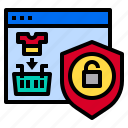 internet, online, protect, shopping, web icon
