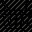 basket, cart, delete, remove, sale icon
