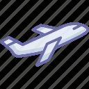 flight, plane, transport, transportation, travel icon