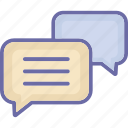 bubble, chat, communication, dialog, message icon