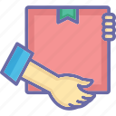 box, courier, delivery, package, service icon