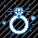 diamond, present, ring