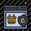 quality, shield, shopping, warranty