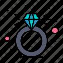 diamond, present, ring, box