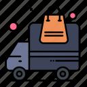 delivery, order, transportation, truck