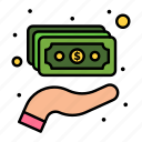 cash, hand, holding, money