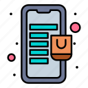 bag, mall, mobile, online, store icon