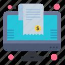 bill, cart, list, online, shopping icon