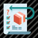 checklist, conditions, e-commerce, policy, refund, return, warranty icon