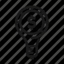 bulb, dollar, idea, light icon