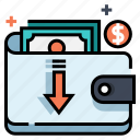 cash, cashback, money, online shopping, satisfaction, wallet icon
