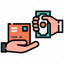 cash, cash on delivery, delivery, e-commerce, payment, purchase, shipping icon