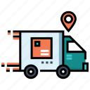 delivery, e-commerce, logistic, online shopping, service, shipping, truck icon
