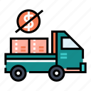 delivery, free, logistic, online shopping, service, shipping, truck icon