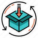 delivery, distribution, download, packing, product, shipping, storage icon