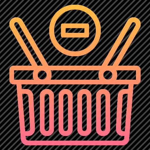 Basket, commerce, remove, shopping, supermarket icon - Download on Iconfinder