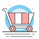 buy, pay, shipping out, shopping cart icon
