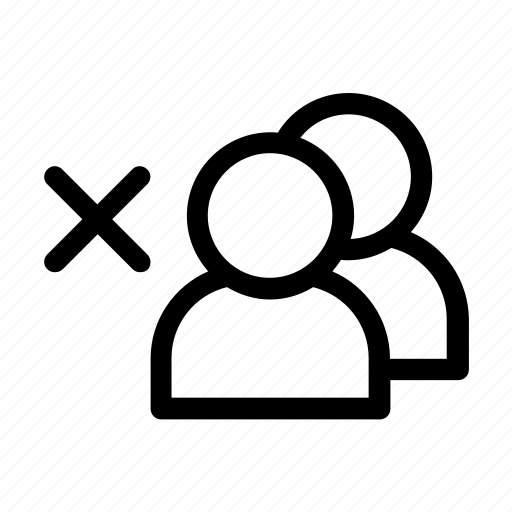 account, cancel, delete, group, membership, profile, user icon