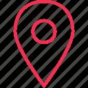 address, gps, locate, location icon