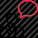 boss, chat, friend, talk, user icon