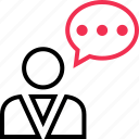 chat, conversation, profile, user icon