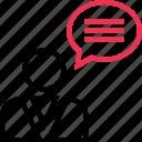 chat, profile, talk, user icon