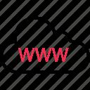 cloud, online, web, website, www icon