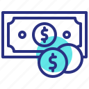 cash, dollar coin, finance, money icon