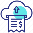 arrow, cloud, digital, money, payment, send icon