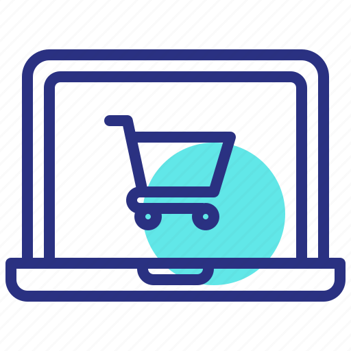 Laptop, online, shop, shopping cart icon - Download on Iconfinder