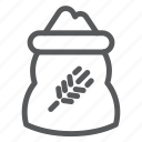bag, cereal, cookery, flour, food, grain, wheat icon