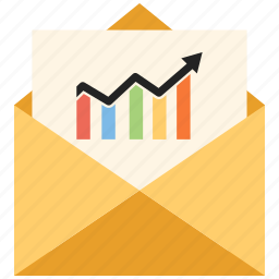 email, letter, mail, message, open envelope icon