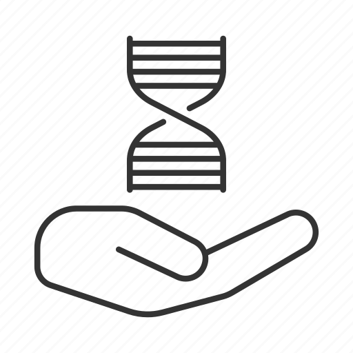 biotechnology, diagnostic, gene, genetic, hand, research, science icon
