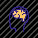 brain, concept, contour, human, mind, operating