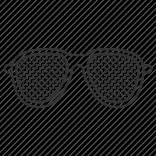 eye, eyesight, eyewear, glasses, ophthalmology, pinhole, vision icon
