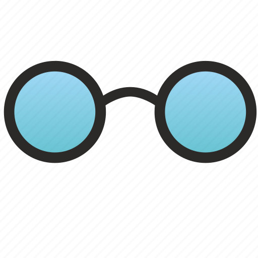 blue, glasses, old, optic, optics, school, study icon