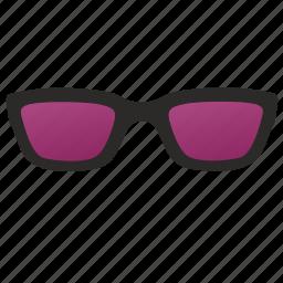 glasses, optic, optics, purple, sunglasses, uf icon