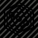 cable, fiber, fibre, hex, optic, structure, wire icon