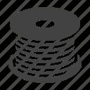 bobbin, cable, fiber, optical, wire