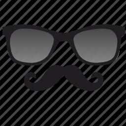 dark, glasses, hipster, optics icon