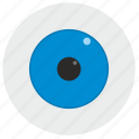 blue, eye icon