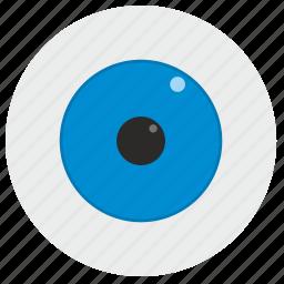 blue, eye icon