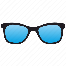 blue, glasses, optics icon