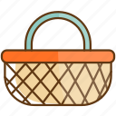 autumn, basket, cold, fall, season icon