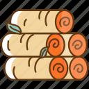 autumn, cold, fall, firewood, season icon