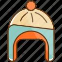 autumn, cloth, cold, fall, hat, season, winter icon