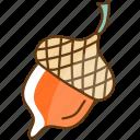 autumn, cold, fall, hazelnut, season icon