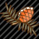 autumn, cold, fall, pinecone, season icon