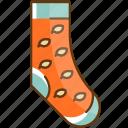 autumn, cloth, cold, fall, season, sock icon