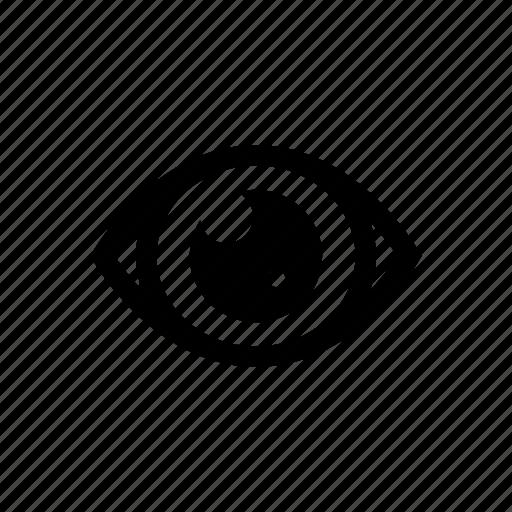 body, eye, member, organ, part icon